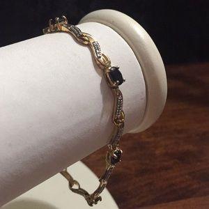 Jewelry - 925 Sterling Silver Gold Tone tennis  Bracelet